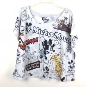 Disney Mickey Mouse Short Sleeve Semi Sheer Shirt